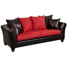 Riverstone Victory Lane Cardinal Microfiber Sofa