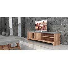 Modrest Civic Modern Concrete & Acacia TV Stand
