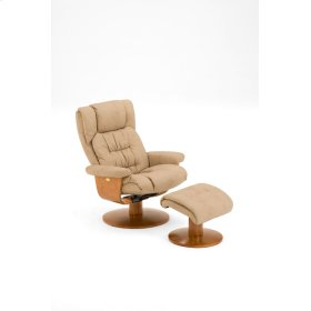 2 PC Recliner Nubuck Bonded Leather