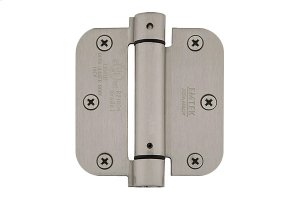 "3-1/2"" x 3-1/2"" 5/8"" Radius Corners Spring Hinges, Plated Steel Product Image"