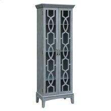 Sydney 2 Door Tall Blueish Grey Cabinet