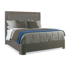 Berkeley King Wood Bed With Leather Strap Panel