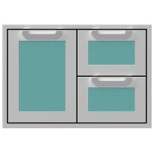 """30"""" Hestan Outdoor Combo Door/Drawer - AGSDR Series - Bora-bora"""