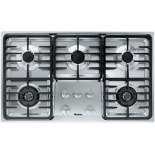 """36"""" 5-Burner KM 3475 G Gas Cooktop - 36"""" SS Cooktop Linear grate"""