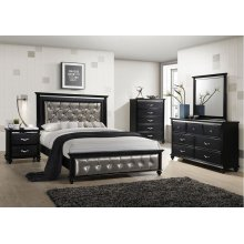 1007 Hollywood King Bed with Dresser & Mirror