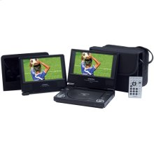 7 inch dual screen portable DVD player package