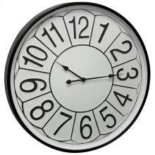 Metal & Glass Wall Clock  32in X 32in