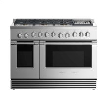 """Gas Range 48"""", 6 Burners with Grill"""