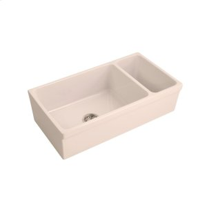 Lowell Double Bowl Fireclay Farmers Sink - Bisque Product Image
