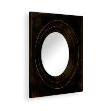 Black Framed Round Mirror