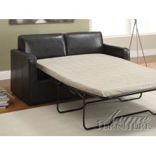 Casby Espresso PU Sofa w/Full Sleeper Set