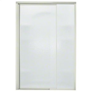 "Vista Pivot™ II Shower Door - Height 65-1/2"", Max. Opening 48"" - Nickel with Rain Glass Texture Product Image"