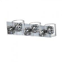 Finesse Lighting- Vintage Chrome Vanity- 3 lights