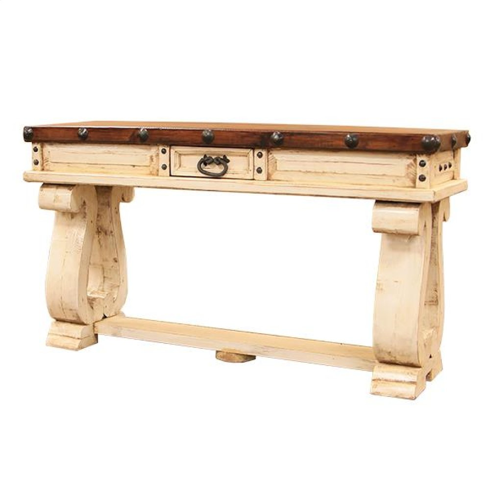 White/Walnut Don Carlos Console