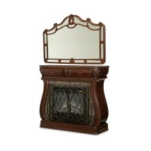 Electric Fireplace and Wall Mirror