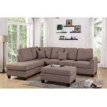 Mocha Reversible Chaise Sectional