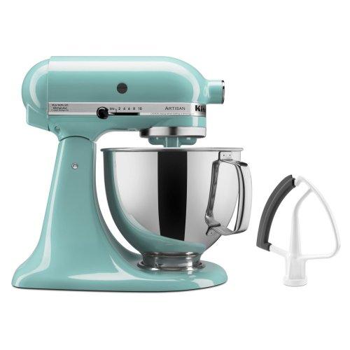 Artisan® Series 5 Quart Tilt-Head Stand Mixer with Flex Edge Beater - Aqua Sky