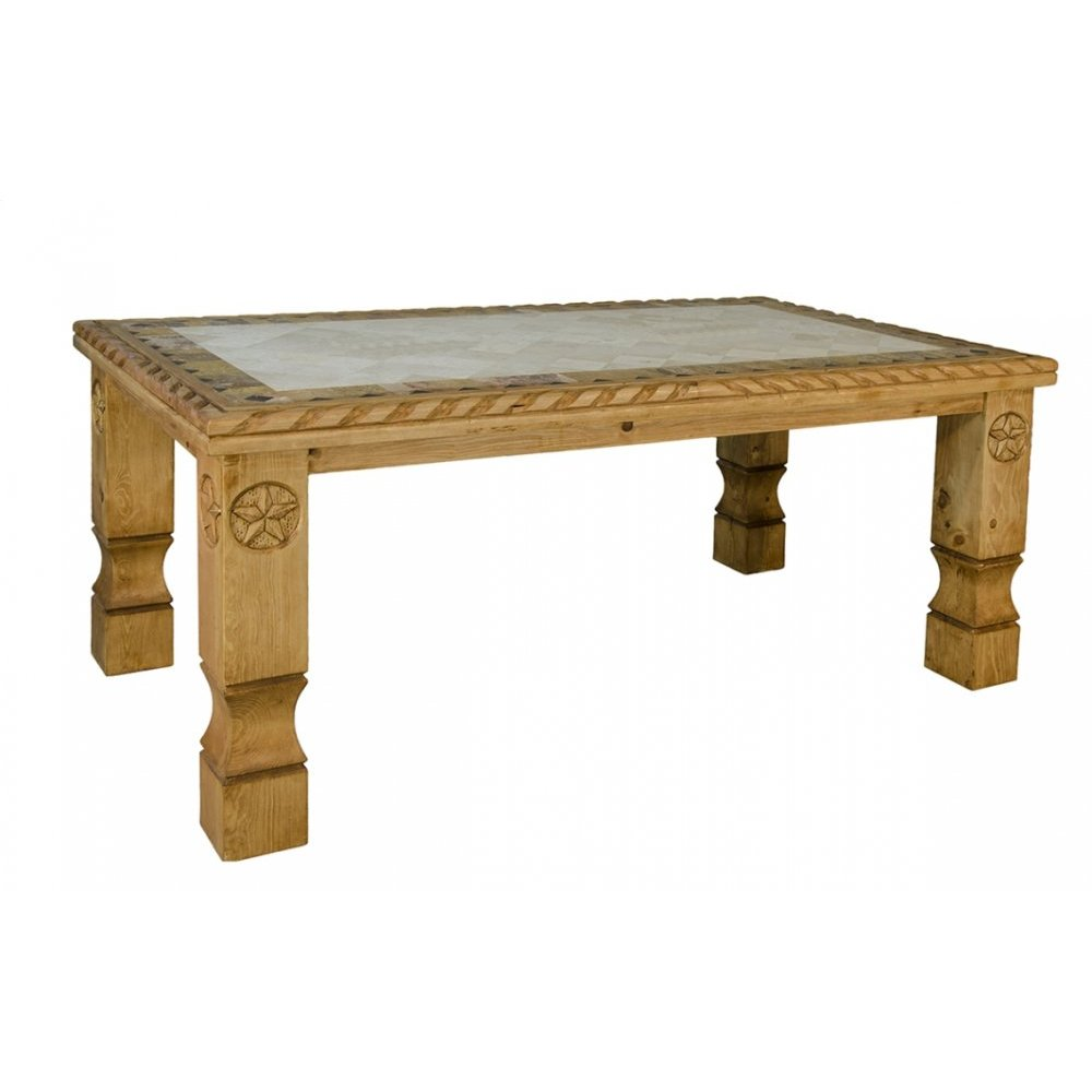 Traditional Santa Rita Table with Marble and Stars