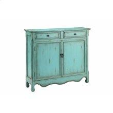 Claridon 2-door 2-drawer Cabinet In Light Blue