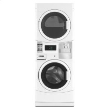Maytag® Commercial Energy Advantage™ Stack Washer/Dryer, Microprocessor Controls, Coin Drop - White