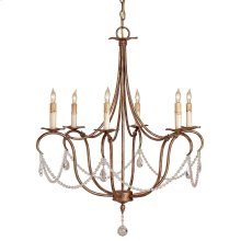 Crystal Lights Gold Small Chandelier