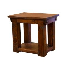 Walnut Lauro End Table