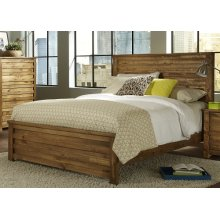 5/0 Queen Panel Footboard - Driftwood Finish