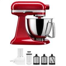 Exclusive Artisan® Series Stand Mixer & Fresh Prep Attachment Set - Empire Red