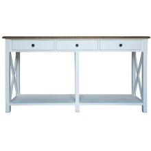 Sofa Table, Available in Hampton White or Hampton Grey Finish.