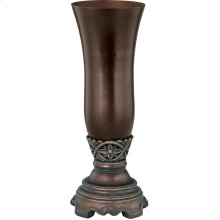 "Vase - Dark Bronze/smoke, 12.25""HX4.75""W"