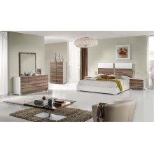 Nova Domus Giovanna Italian Modern White & Cherry Bedroom Set