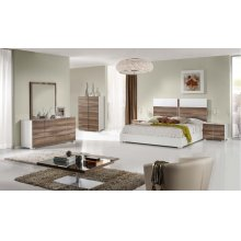 Nova Domus Giovanna Italian Modern White & Cherry Bedroom Set