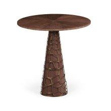 """36"""" Circular Natural Walnut Counter Table"""