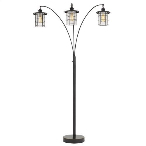 Silverton arc floor lamp with glass shades (Edison bulbs included)