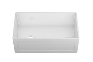 """Fira 083319 - undermount with apron front fireclay Kitchen sink , 31 1/4"""" × 17 1/2"""" × 10"""" Product Image"""