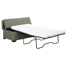 "Twin Sleeper Ottoman W/3.1"" Gel Mattress-light Gray#k2080-1"