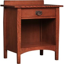 Oak With Oak Drawer Fronts Open Night Stand