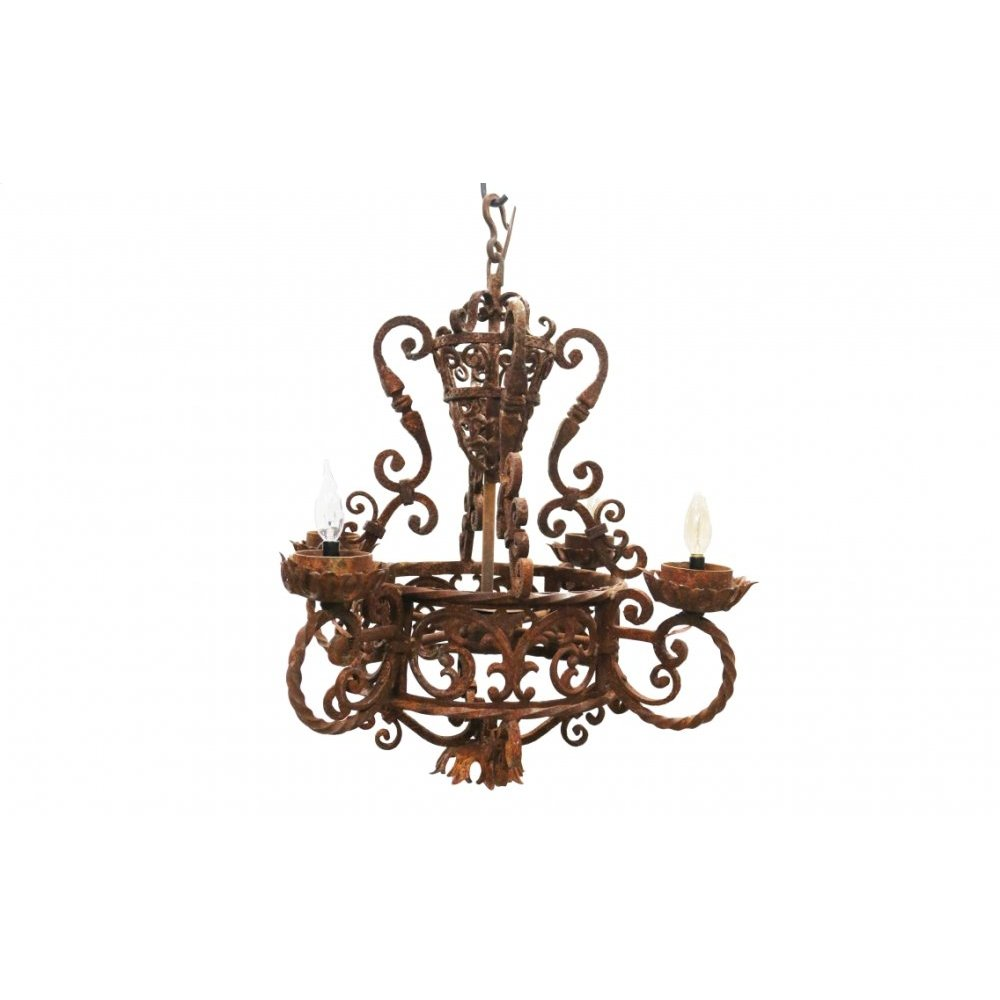 Factory 4 Rustic Small Chandelier