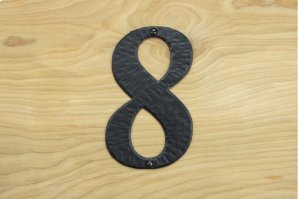 "8 Black 6"" Mailbox House Number 450150 Product Image"
