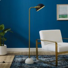 Convey Bronze and White Marble Floor Lamp