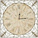 Kathleen Clock - Distressed Antique White Product Image