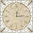 Kathleen Clock - Distressed Antique White Product Image