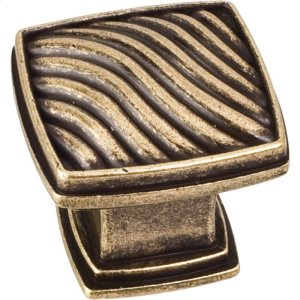 "1-3/16"" Waved Square Cabinet Knob. Product Image"