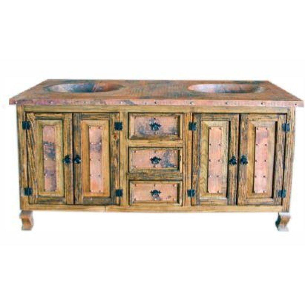 "36"" Copper Vanity W/Drawers"