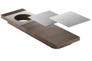 Presentation board 210069 - Walnut Stainless steel sink accessory , Walnut Product Image