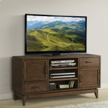 Vogue - 54-inch TV Console - Plymouth Brown Oak Finish