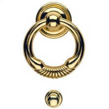 Door Knocker - Solid Brass in MB (MaxBrass® PVD Plated)