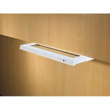 """42"""" White Built-In Range Hood with External Blower Options"""