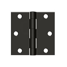 "3""x 3"" Square Hinge - Oil-rubbed Bronze"
