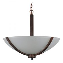 Alta Peak Collection Three Light Bowl Chandelier